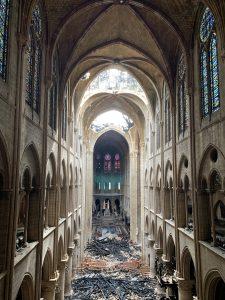 Vue intérieure de la Cathédrale de Notre-Dame de Paris