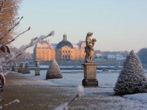 Vue extérieure du chateau en hiver